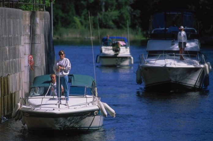 Waterway traffic brings millions of dollars of revenue into local economies annually. Photo: Parks Canada