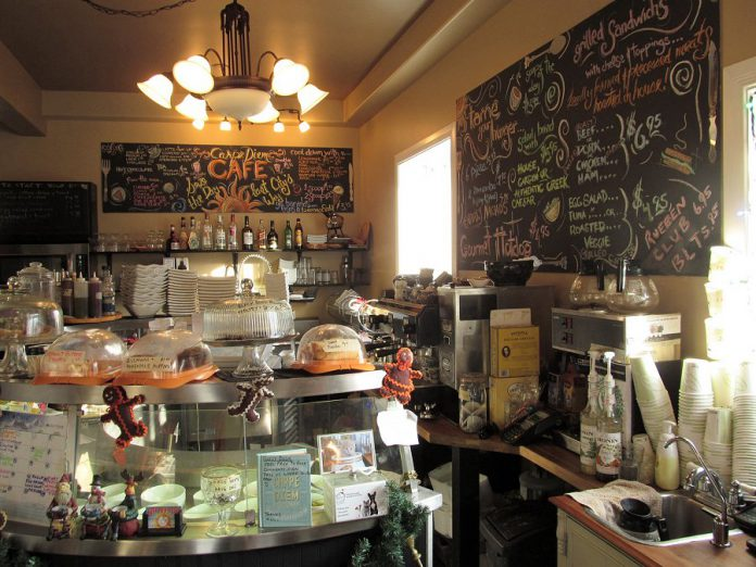Carpe Diem Cafe offers a wide selection of sandwiches, soups, salads, desserts, and hot and cold beverages, as well as wine and beer