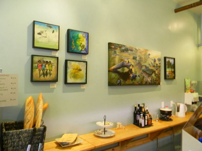 Works by Victoria Wallace on display at Chasing the Cheese