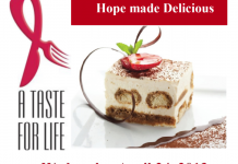 "A Taste for Life - ""Hope Made Delicious"" takes place on Wednesday, April 24"