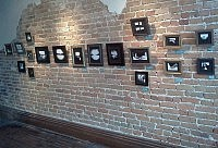 Student works on display at Nata's Cafe (photo: Jeff Macklin)