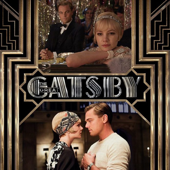 Leonardo DiCaprio as Jay Gatsby and Carey Mulligan as Daisy Buchanan in The Great Gatsby (publicity photo)