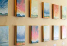 Skyscapes by Melissa Bothwell-Inglis is on display at Black Honey until June 17