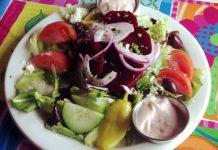Thomas Olszewski's Greek salad with pickled beets at Grandfather's Kitchen (photo: Ria Wood)