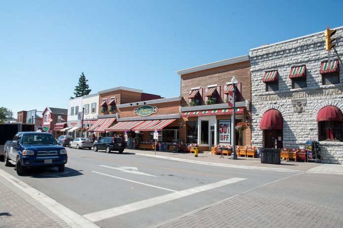 Bolton Street is one of the primary shopping destinations in Bobcaygeon, especially popular with out-of-towners