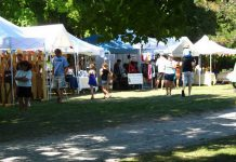 Vendors at the 2012 Peterborough Folk Festival in Nicholls Oval park (photo: Peterborough Folk Festival)