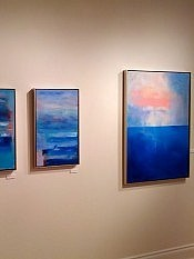 "The horizon is strikingly emphasized in Janet's painting ""Threshold"" (right), but is more subtly suggested in others"