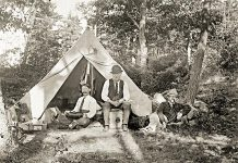 This rare 1902 photo of a camp at Stoney Lake is one of 70 images to be featured at SPARK's Showcase Exhibit (photo: Fairbairn-MacKenzie Photographic Collection)