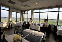 The Landing 27 Bistro at the Peterborough Airport, an appropriate location for a professional lunch or dinner meeting (photo: Jesse Goodrice, goodricephoto.ca)