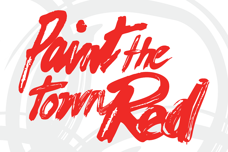 To paint the town (red)
