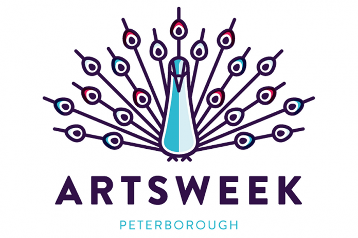 For its 10th anniversary season in 2014, Artsweek Peterborough has a bright and bold new peacock logo (graphic: Joe Andrus)