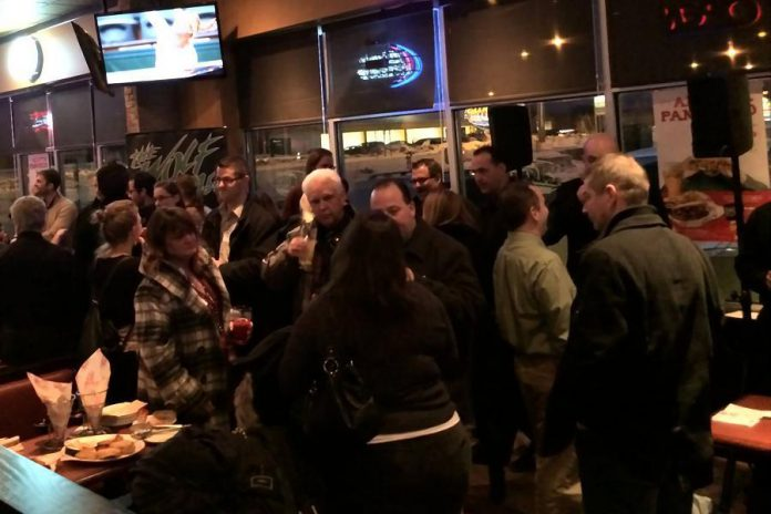 Chambers of Commerce organize regular networking events for members, like the Peterborough Chamber of Commerce's quarterly pub night. These types of events are perfect opportunities for you to develop strategic alliances with other relevant businesses. (Photo: Greater Peterborough Chamber of Commerce).