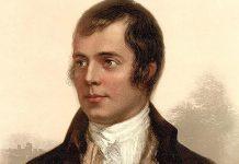 Portrait of Robert Burns in Ayr, Scotland (photo: public domain)