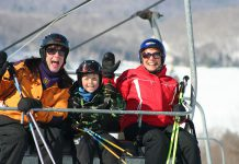 Families will find spectacular skiing and snowboarding at Sir Sam's Ski / Ride in Haliburton