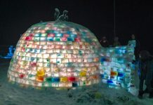 For the second year in a row, Carolyn Amyotte coordinated the building a coloured igloo in Aplsey. The 2015 Rainbow Igloo was featured at the Apsley Winter Carnival on February 21st and Amyotte and three fellow parents will be sleeping overnight in the igloo in March to raise funds for literacy resources for Apsley-area students.