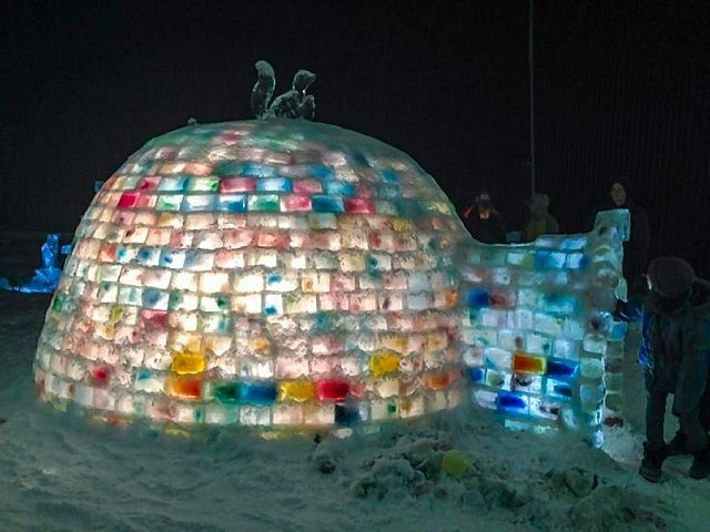 For the second year in a row, Carolyn Amyotte coordinated the building a coloured igloo in Aplsey. The 2015 Rainbow Igloo was featured at the Apsley Winter Carnival on February 21st and Amyotte and three fellow parents slept overnight in the igloo in March to raise funds for literacy resources for Apsley-area students.
