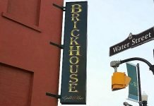 The new sign for the Brickhouse Grill & Bar at the corner of Water and Simcoe in downtown Peterborough (photo: Brian Henry)