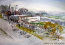 A concept drawing from 2014 of the Canadian Canoe Museum at its new location at the Peterborough Lift Lock. The museum has now launched a competition for architects to develop actual design concepts for the new museum. (Drawing: Neil Broadfoot)