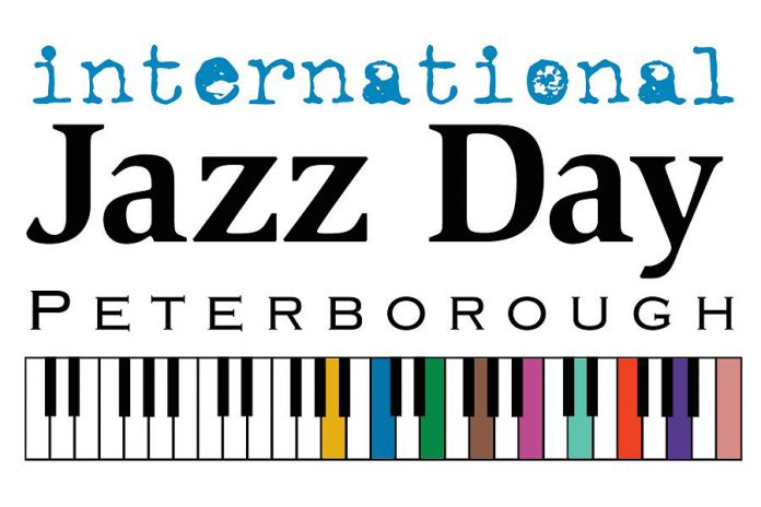 The logo for International Jazz Day in Peterborough, which takes place on Thursday, April 30th