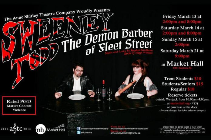The Anne Shirley Theatre Company's production of the Stephen Sondheim musical runs at the Market Hall for six performances from March 13th to 21st