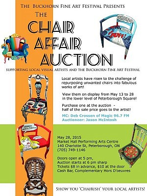 "From the poster, to the possibilities given for entries, it's obvious that the ""Chair Affair"" intends to put the fun in fundraising"