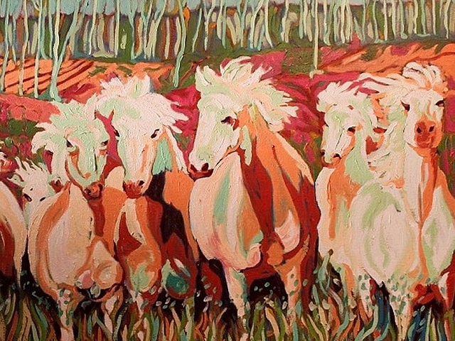 "David McIntosh's painting of ""Wild Mares"" is perceptibly infused with his reflections and impressions of the feminine"