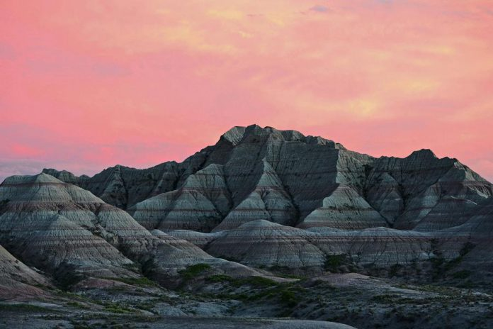 Georgie Horton-Baptiste's work is being presented as part of the SPARK Photo Festival during the month of April, including this photo looking towards Bigfoot Pass at Badlands National Park in South Dakota (photo: Georgie Horton-Baptiste)
