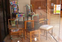 Local artists have transformed unwanted chairs into original works of art that will be auctioned off on May 28 in support of the Buckhorn Community Centre