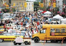 The annual Classics on Kent car show in downtown Lindsay is one of the largest classic car shows in Ontario (photo courtesy City of Kawartha Lakes)