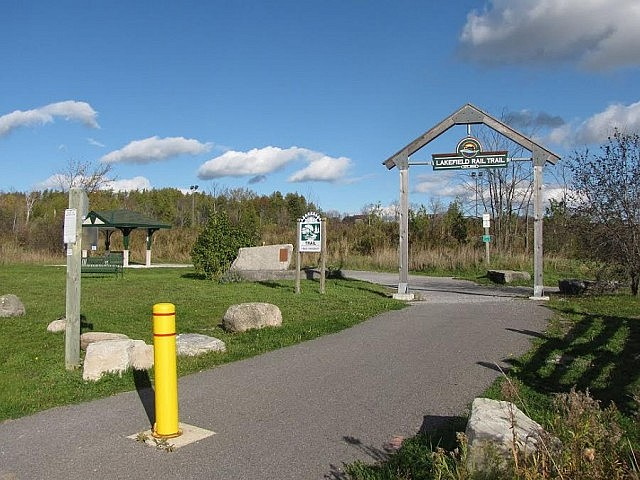 The Lakefield Rail Trail, built on the Midland Railway bed, runs from Trent University to Lakefield (photo: Steve Manders)