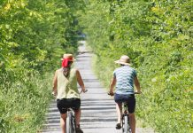 There are hundreds of kilometres of trails throughout the Kawarthas, including the Trans Canada Trail (pictured here near Jackson Park in Peterborough). International Trails Week, running from June 1 - 6, is an opportunity to explore and discover local trails. (Photo: Drew Monkman, www.drewmonkman.com)