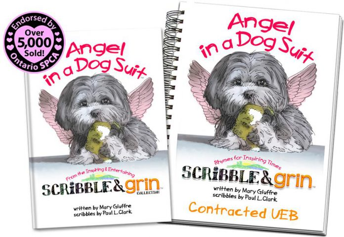 """""""Angel in a Dog Suit"""", by Kawarthas authors Mary Giuffre and Paul L. Clark, is the true story of puppy mill survivor Ruby. The heart-warming children's book has been endorsed by both the Ontario SPCA and Humane Society and will be introduced to Ontario elementary schools in September 2015."""
