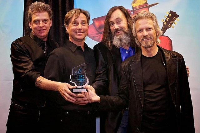 The Northern Pikes (Bryan Potvin, Merl Bryck, Jay Semko, Don Schmid) were inducted into the Western Canadian Music Hall Of Fame in 2012 (photo: Leftboot Productions)
