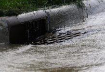 Storm water runoff carries pollutants commonly found on streets and other paved surfaces like pet waste, motor oil, cleaners and other chemicals directly into waterways. Using rain barrels, picking up after your pet, and reducing paved surfaces are all ways we can reduce storm water runoff and keep our waterways cleaner. (Photo: Wikipedia)