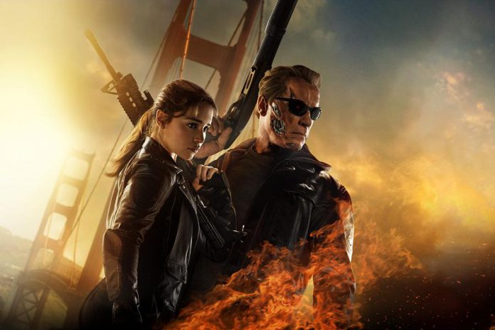 """""""Terminator Genisys"""", starring Emilia Clarke and Arnold Schwarzenegger, opened in theatres on July 1, 2015"""
