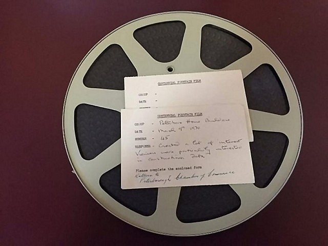 The Peterborough Chamber of Commerce recently discovered the 16-mm film in their offices (photo courtesy of Peterborough Chamber of Commerce)