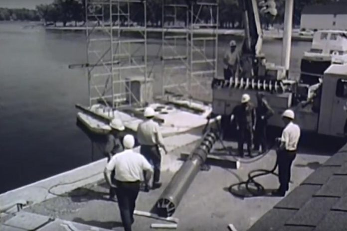 Installing the pump in the fountain base