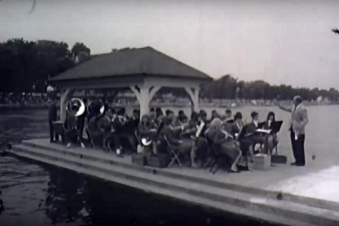 A youth orchestra provided live music at the launch ceremony