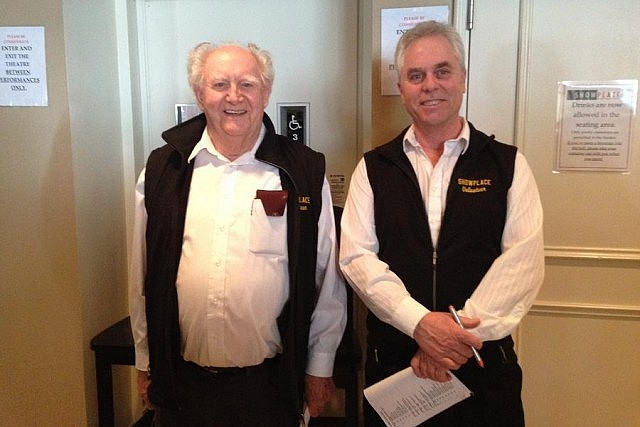 Along with staff, Showplace also depends on dedicated volunteers like Norman Savage and Jim Ross (photo: Emily Martin)