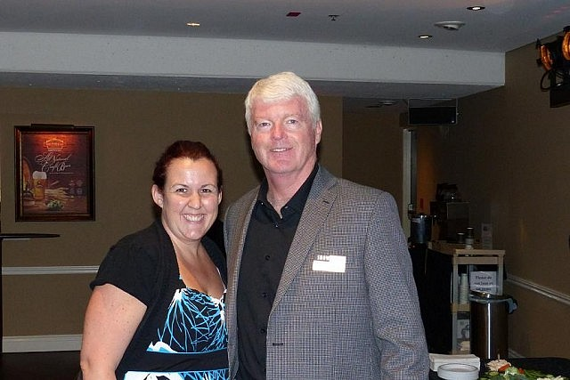 Showplace is a not-for-profit organization with a volunteer board; pictured is Marketing and Administrative Manager Emily Martin with Board Chair John Cranfield (photo: Ray Henderson)