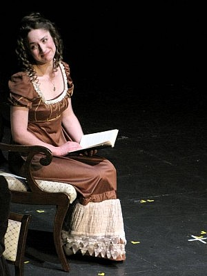 "As well as working at Showplace, Kait Dueck is an active member of Peterborough's artistic community. Here she performs as Elizabeth in the Showplace Players' 2012 production of ""Pride and Prejudice"" (photo: Ray Henderson)"