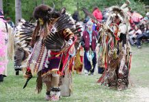 Dancers at the 2007 Curve Lake Pow Wow (photo courtesy of Curve Lake Cultural Centre)