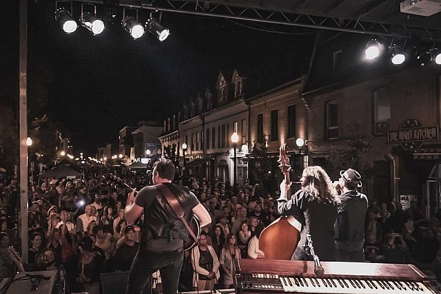 The Weber Brothers performing at Hootenanny on Hunter Street in downtown Peterborough (photo: Rob Viscardis)