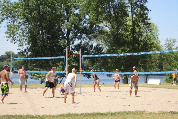 The beach volleyball court at Beavermead Park on Little Lake in Peterborough (photo courtesy of the City of Peterborough)