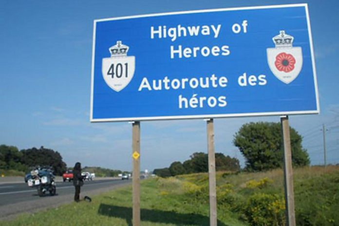 Between 2016 and 2021, 117,000 trees will be planted along the stretch of Highway 401 between Trenton and Toronto known as the Highway of Heroes