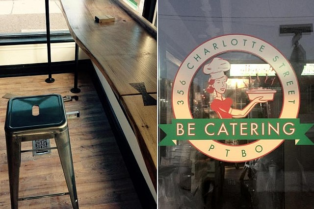 Your seat is waiting at BE Catering's Luncheonette on Charlotte Street, projected to open this month (photos: BE Catering)