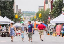 Peterborough Pulse, Downtown Peterborough's first open streets event in July 2015, was a huge success and plans are underway for a bigger and better event in 2016 (photo: Linda McIllwain / kawarthaNOW)