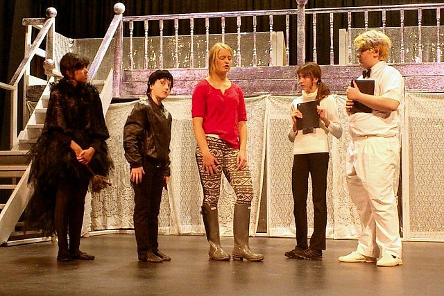 Laila Fuoco as Ravena, Jack Freeman as Raven, Katie Oickle as Gerta, Mikayla Stoodley as The Princess, and Aiden Playford as The Prince