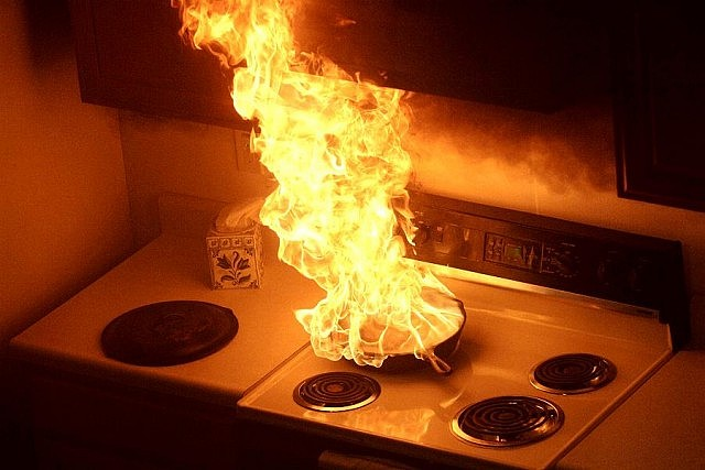 Careless cooking is the #1 cause of fire-related injuries in Ontario (photo: State Farm)