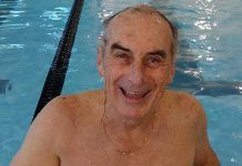 Peterborough real estate broker and Rotary Club member Carl Oake has been swimming for charity since 1987 (photo: Peterborough Rotary Club / Facebook)